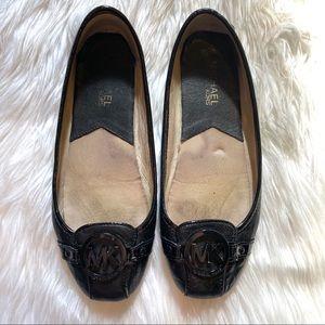 Michael Kors MK Signature Leather Ballerina Flats